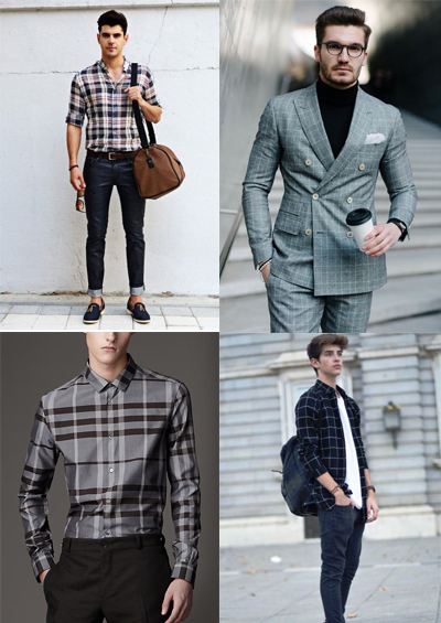 checks men's fashion trends for 2018