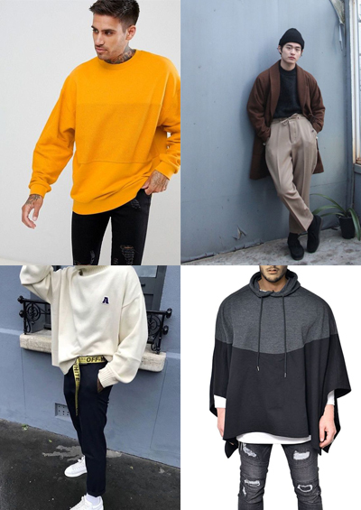 over sized clothes men's fashion trends for 2018