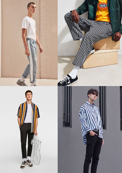 side stripes men's fashion trends for 2018