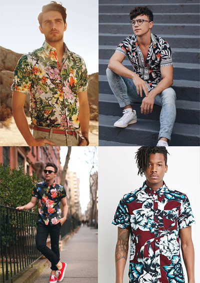 tropical prints men's fashion trends for 2018