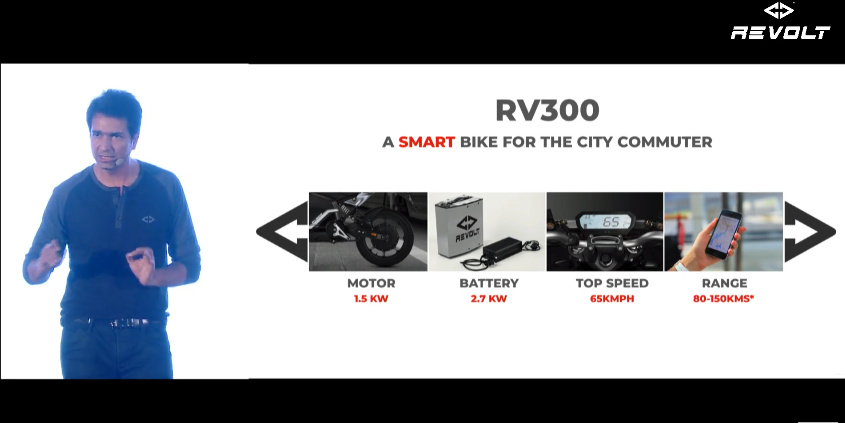 Revolt electric Motorcycle Battery and Drivetrain