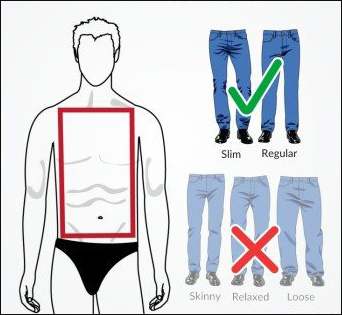 Jeans Fitting For Thin Body Type