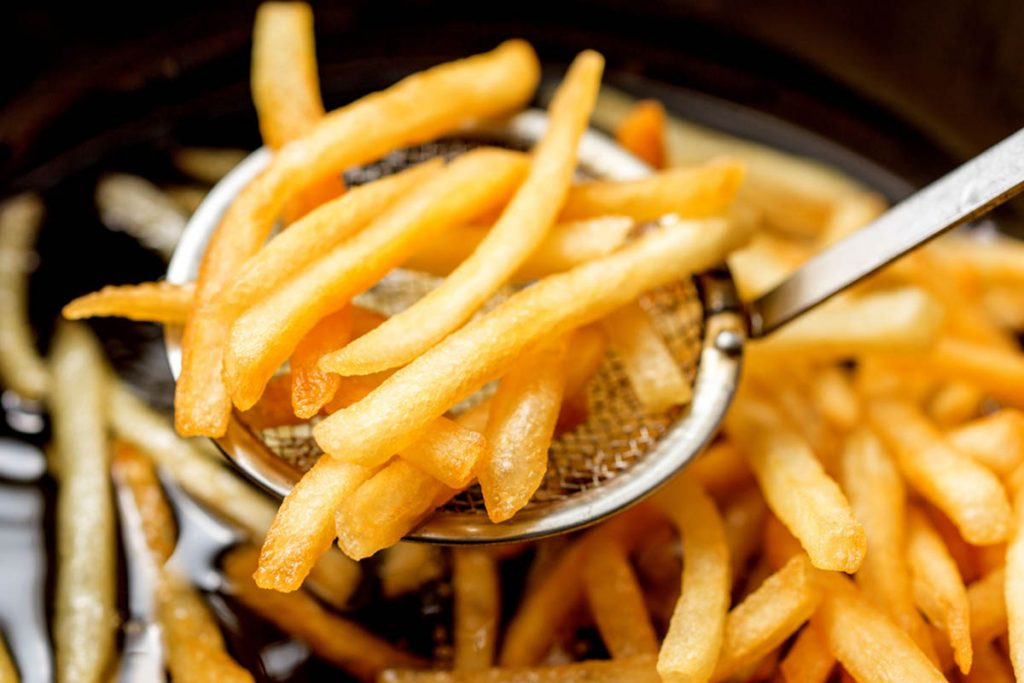 don't eat fried food while boozing