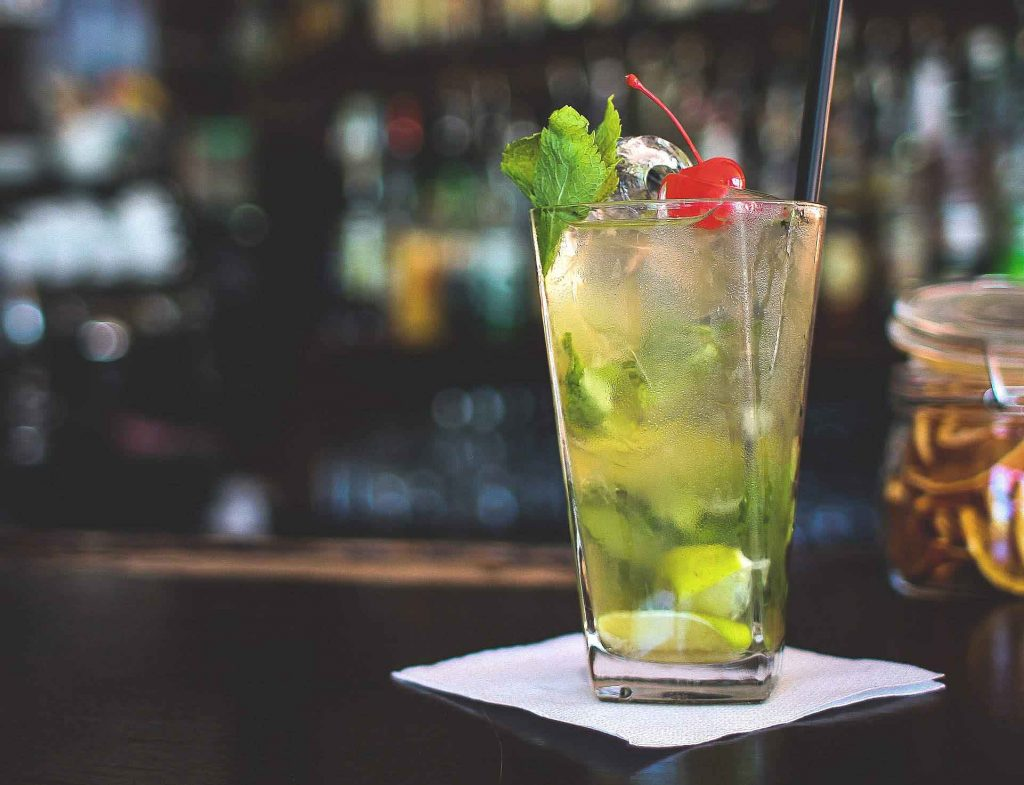 drink virgin mojito to get rid of hangover