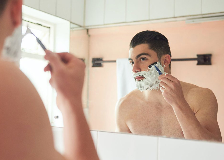 how to shave a beard the right way
