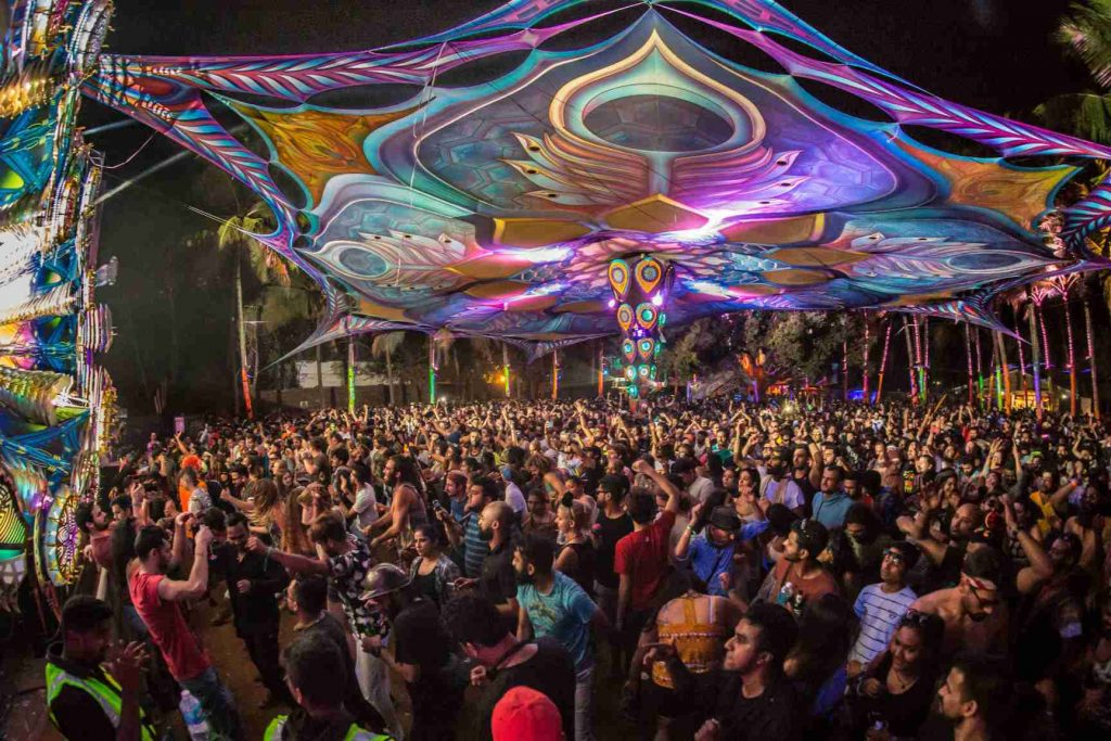 best place to party in India is goa
