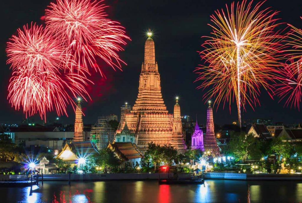 best place to party on new year's eve is thailand