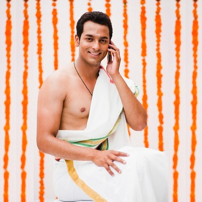 south indian groom dhoti shawl outfit