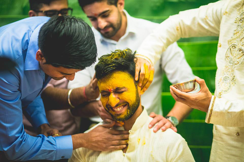 south indian groom haldi outfit ideas