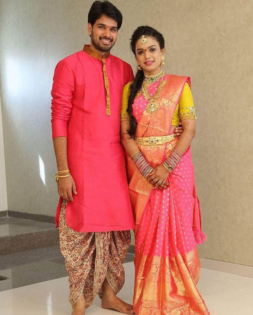 south indian groom nischitartham outfit ideas
