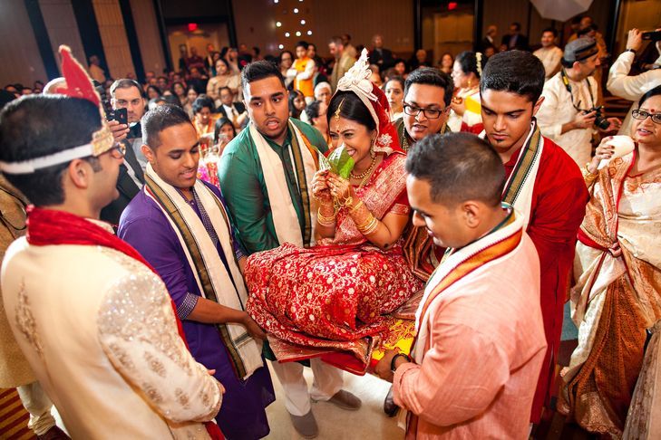 bengali groom's friends outfit