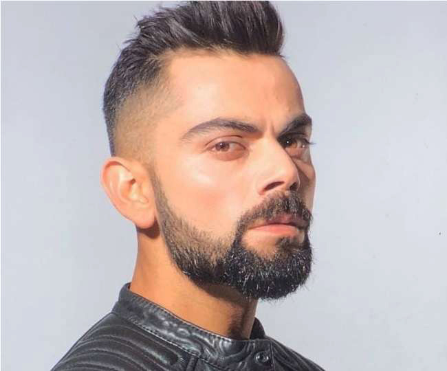 virat kohli faded beard