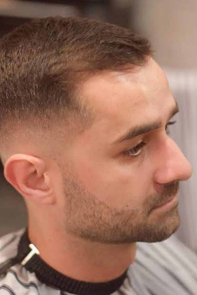 Crew Cut for men with thin hair