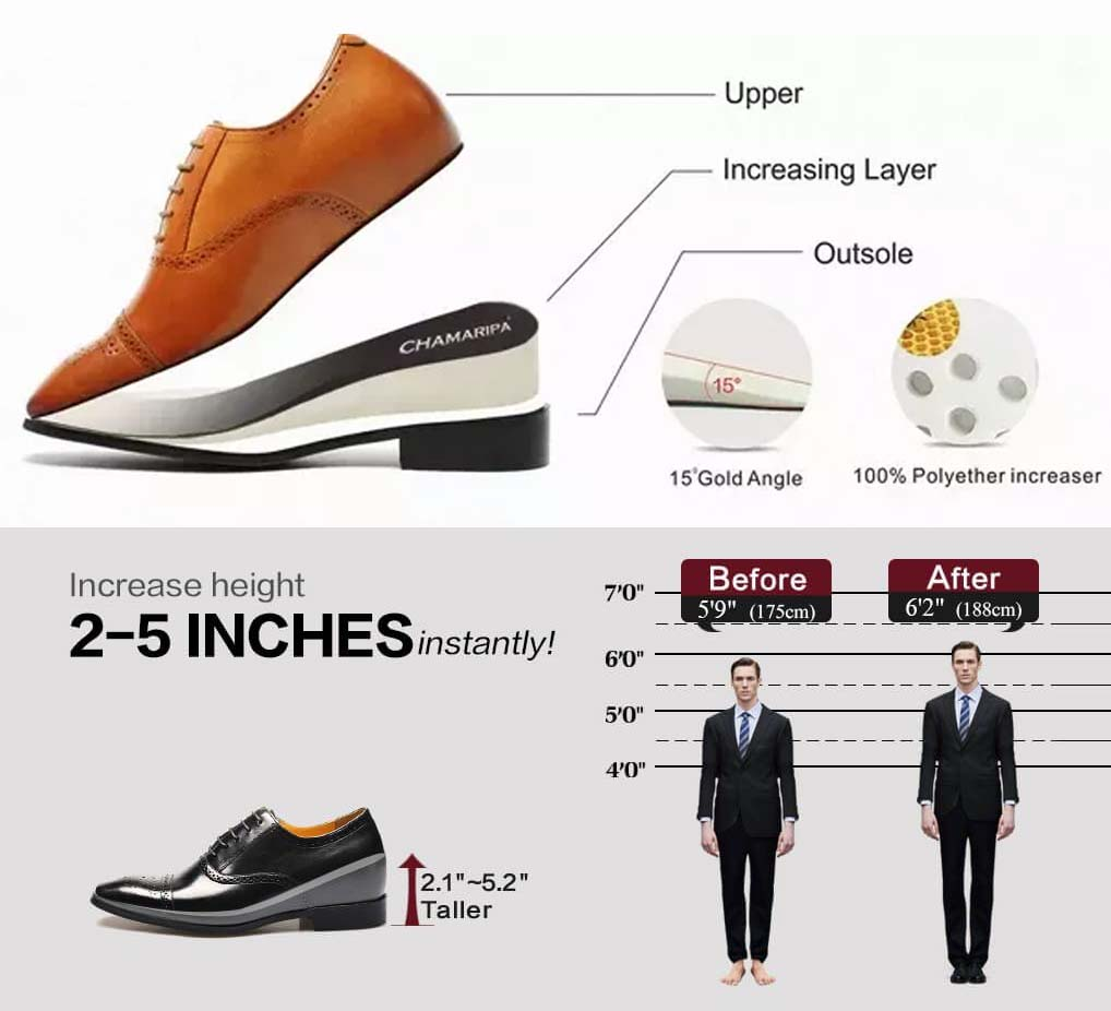 Wear Elevator Shoes To Increase Height