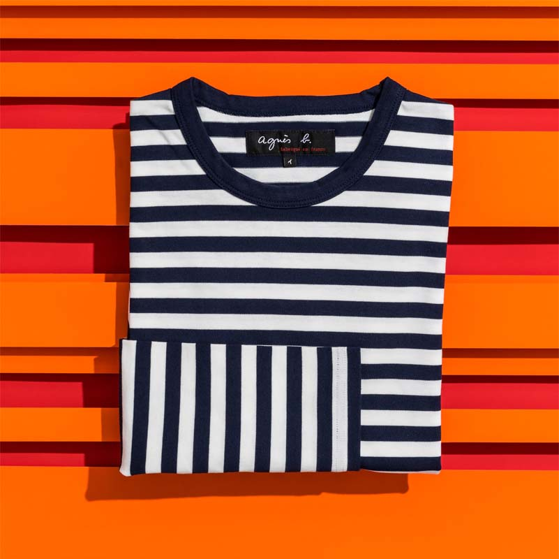 horizontal stripes makes you look shorter and heavier