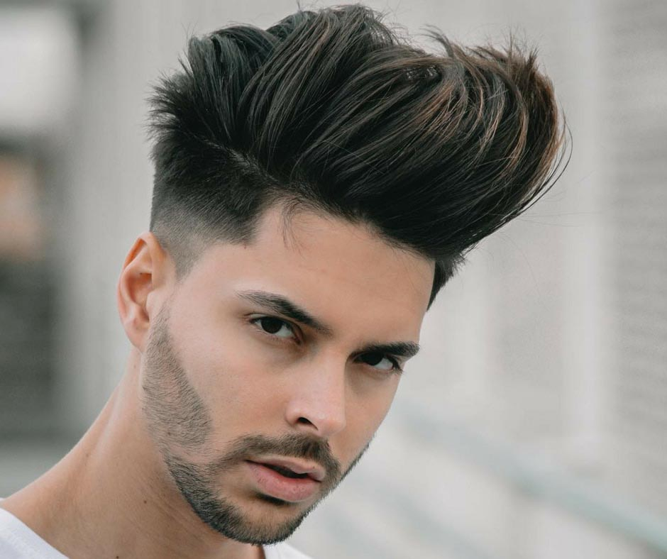 shot men's hairstyle to look taller