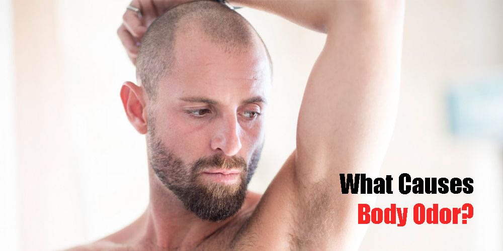 what causes body odor for men