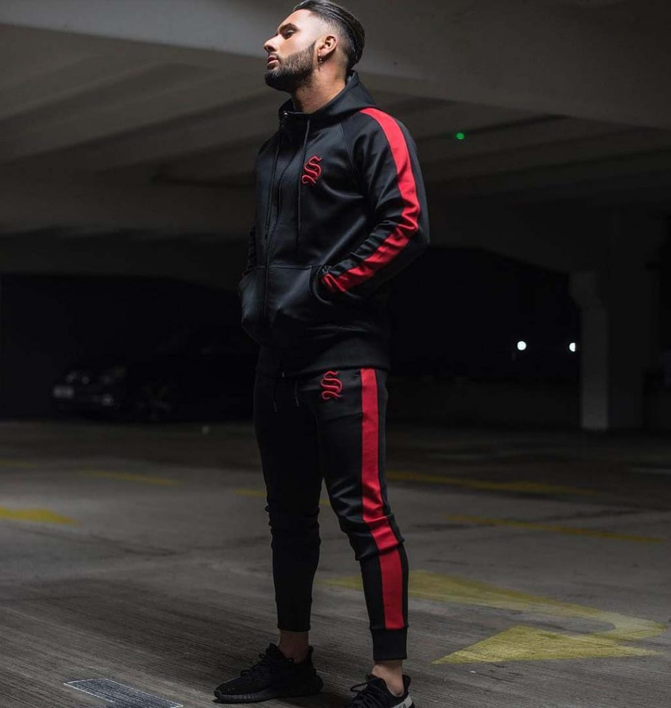 men gym outfit hoodies fashion