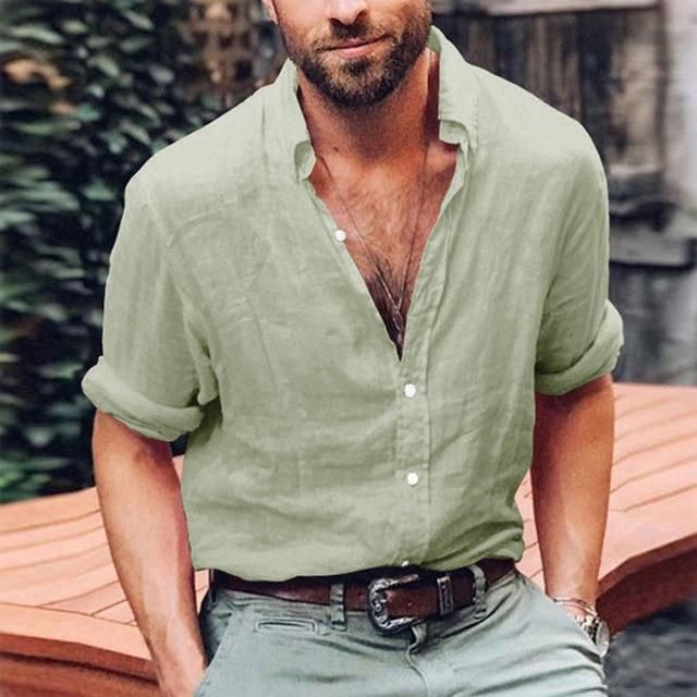 Men Linen Shirts Fashion For Summer