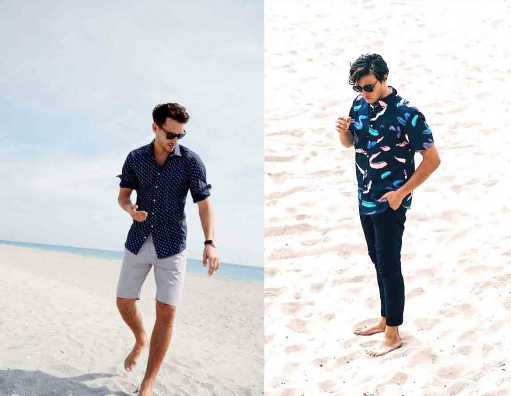 Men's chinos and shirt fashion for the summer