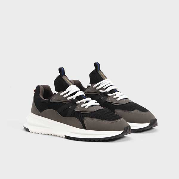 BERSHKA - Contrast Mesh Sneakers for men