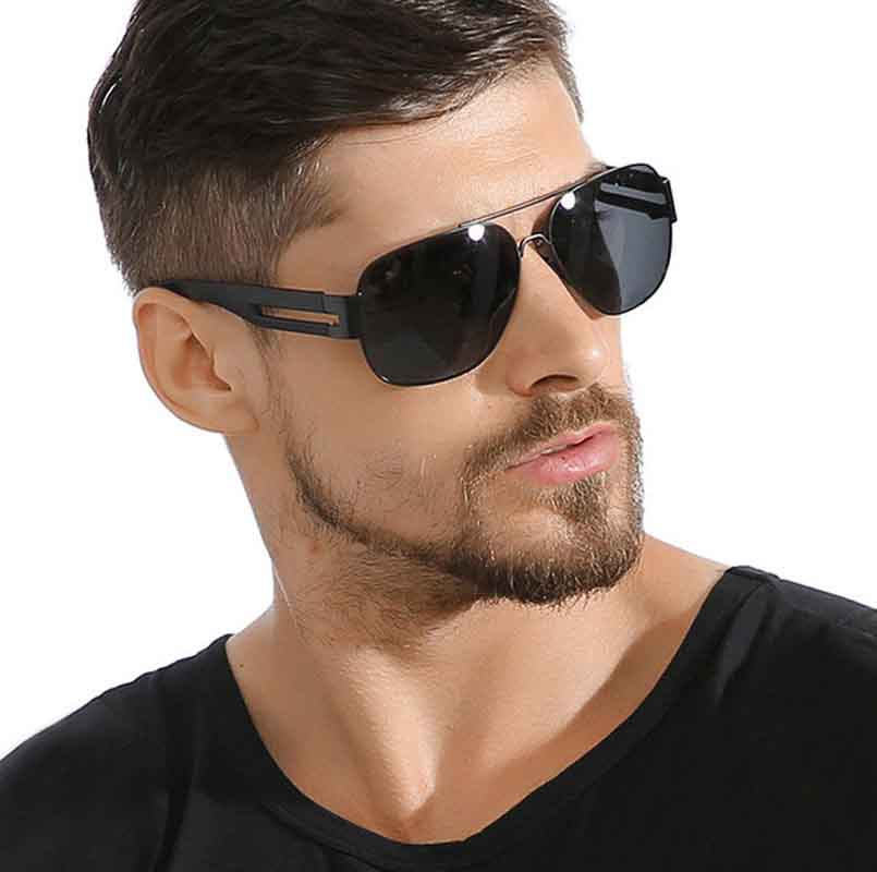Men's metal polarized sunglasses trends in summers