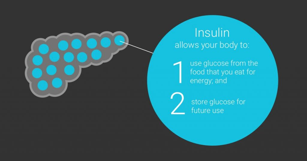 Insulin levels in human body