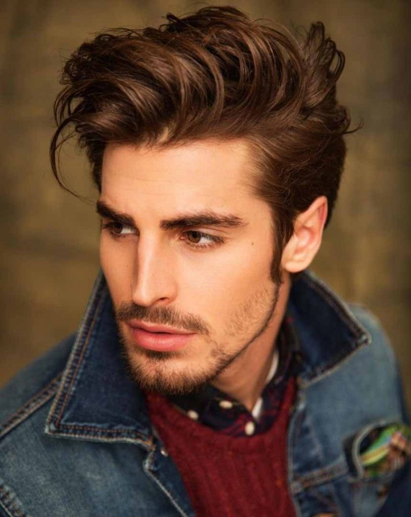men's chocolate brown hair color trend