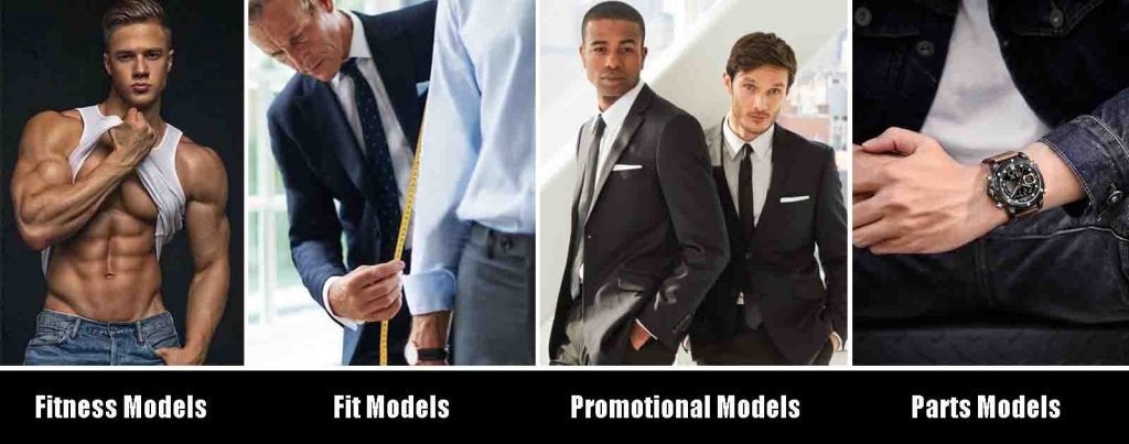 Different types of male modeling in the world