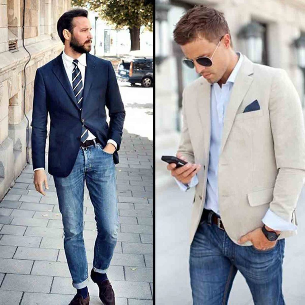 Indian Men Corporate Office Outfit Blazers And Jeans