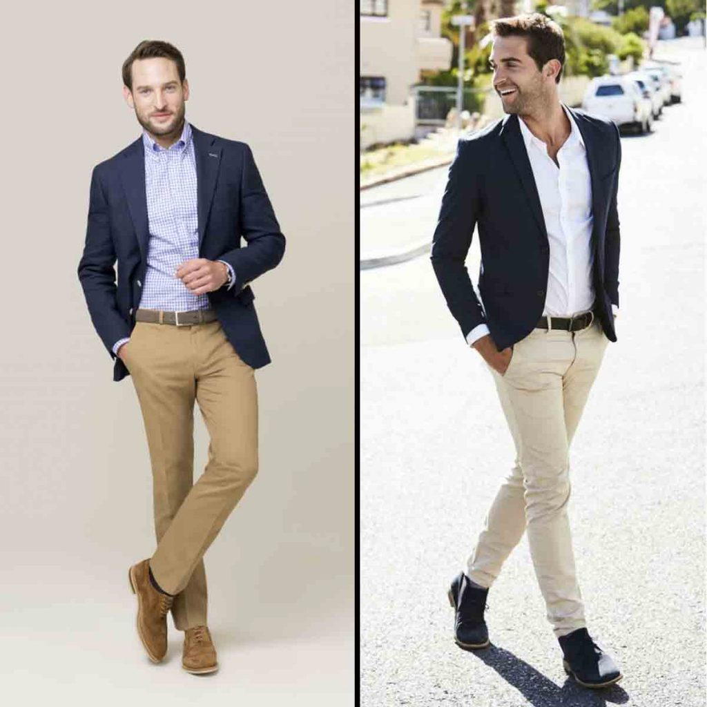 Indian Men Corporate Office Outfit Blazers With Chinos
