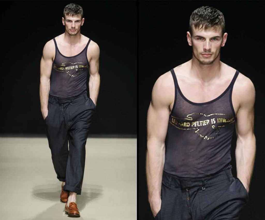 What should be your attitude while walking like a male model on the ramp