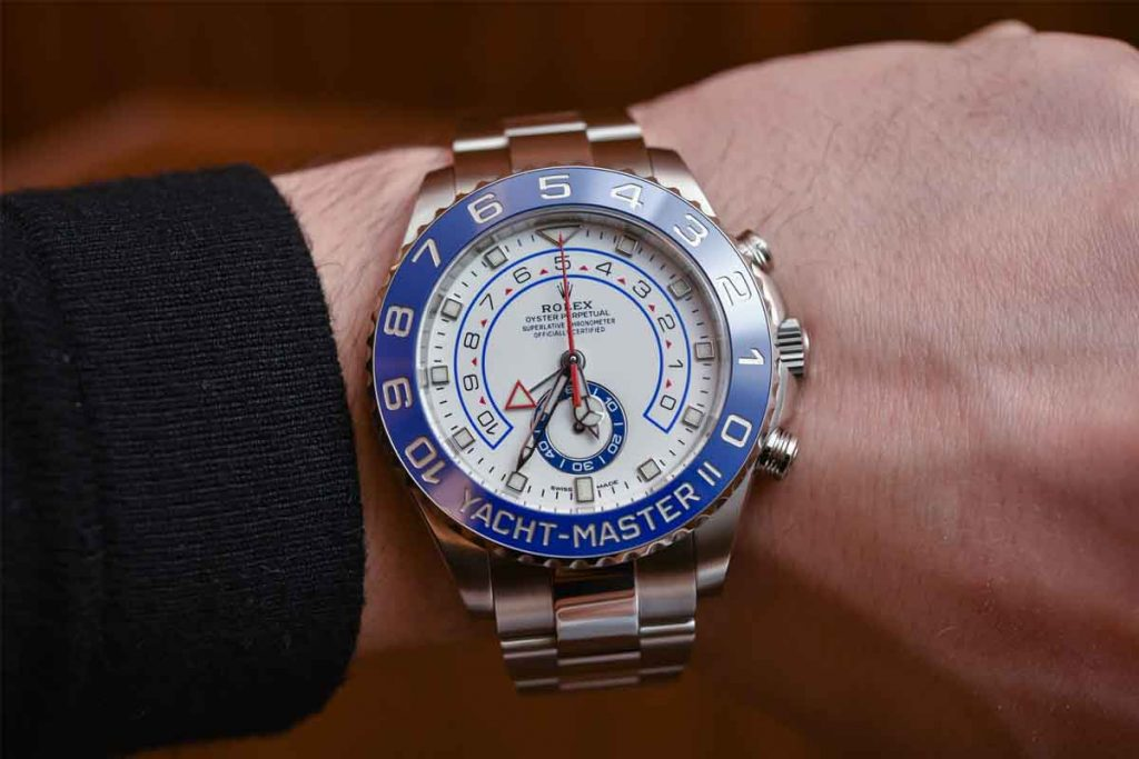 best luxury watches for men- Rolex Yacht Master II