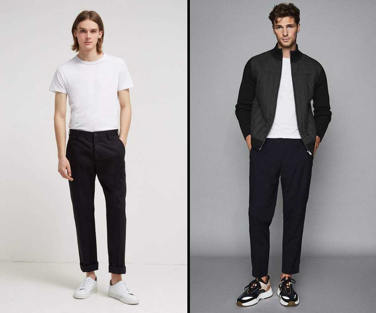 men's ankle length fashion with sneakers
