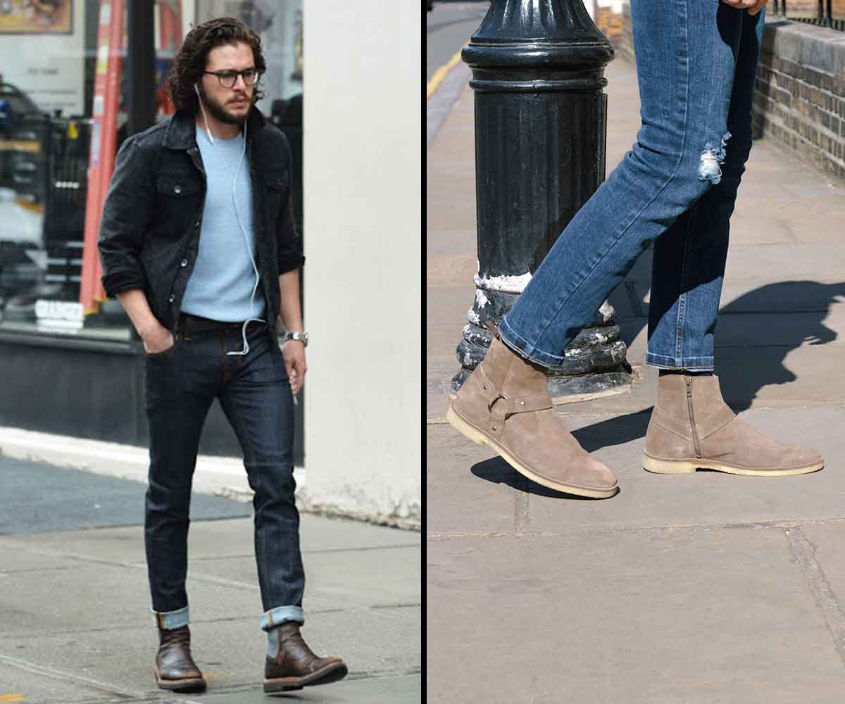 men's ankle length pants fashion with Boots