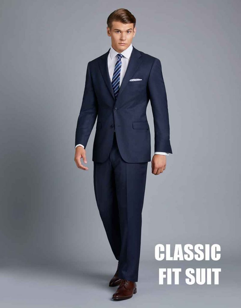 men's classic fit suit