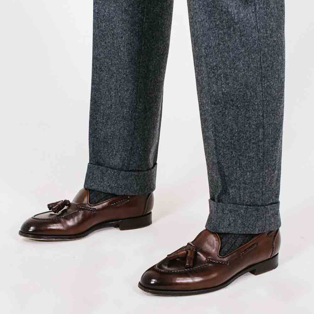 men's cuffed hem suit pants
