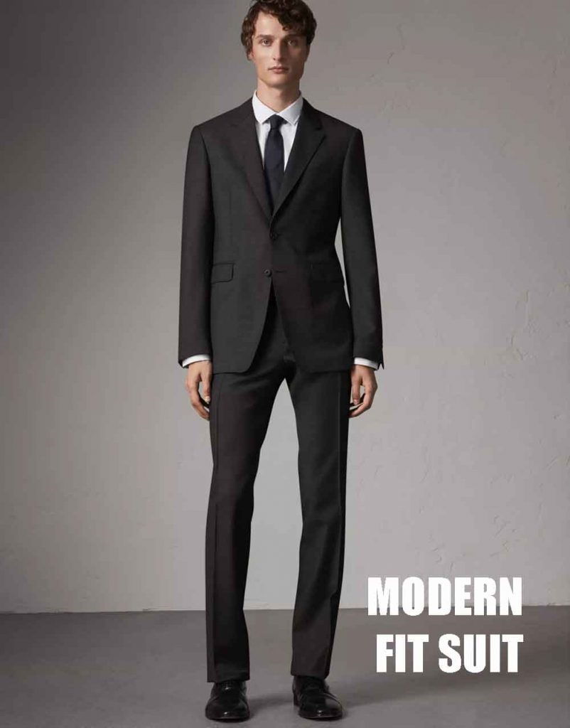 men's modern fit suit
