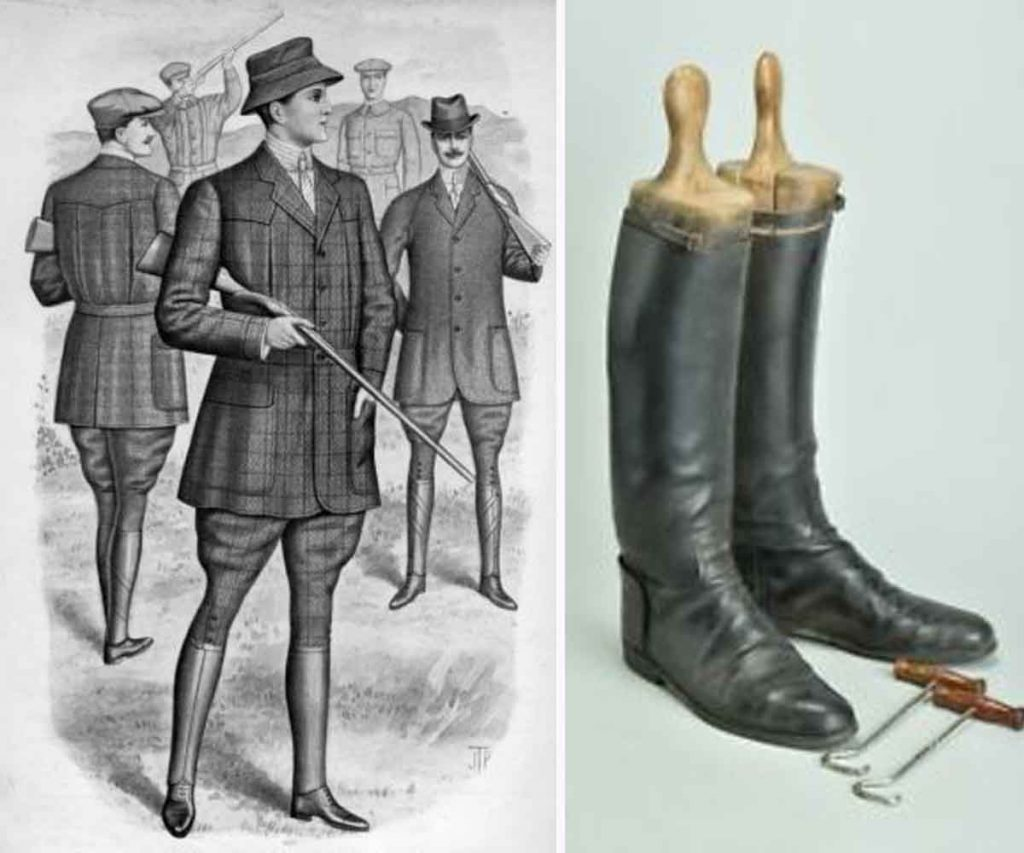 mens Edwardian vintage fashion high knee boots