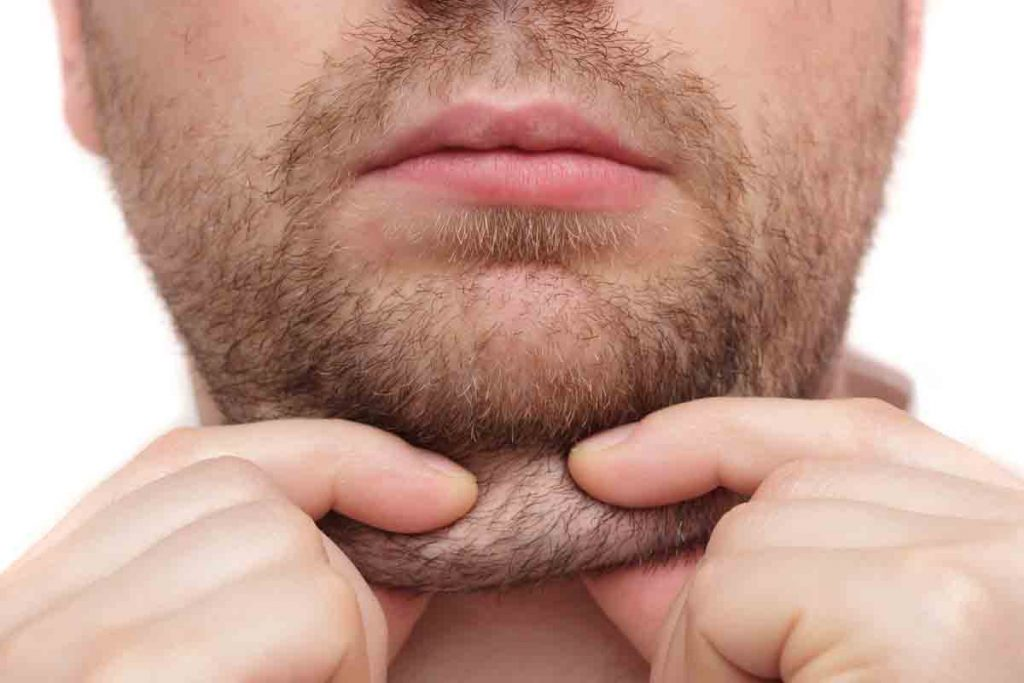 what causes a double chin in men