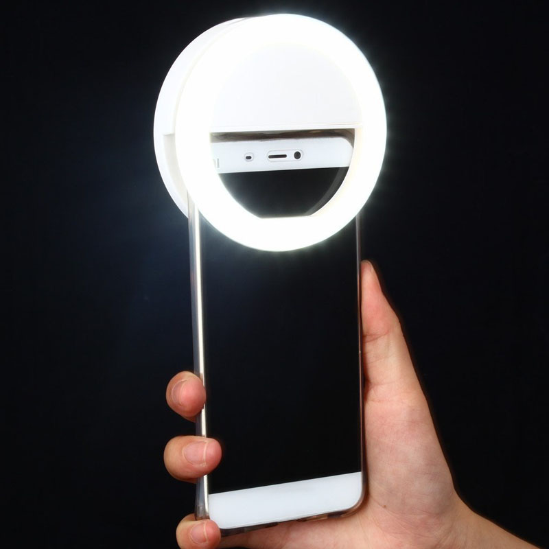 Rechargeable Selfie Ring Light (40 LED Light with 3 Light Modes)