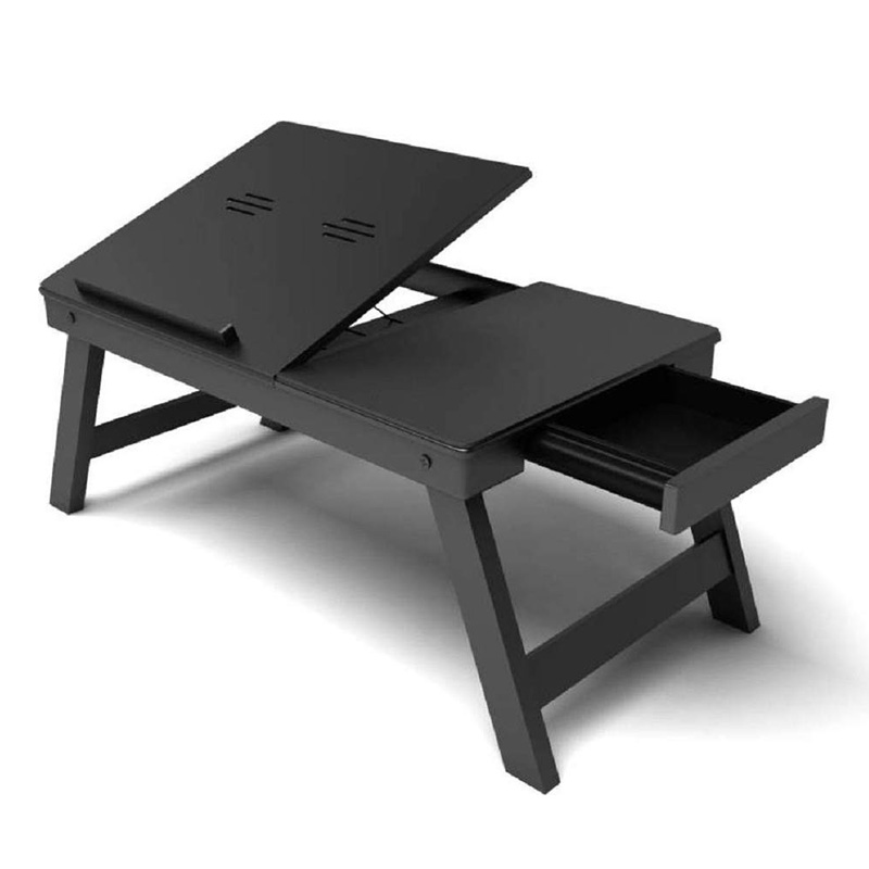 Fabulo Wooden Adjustable Multi-Purpose Table With Cooling Pad