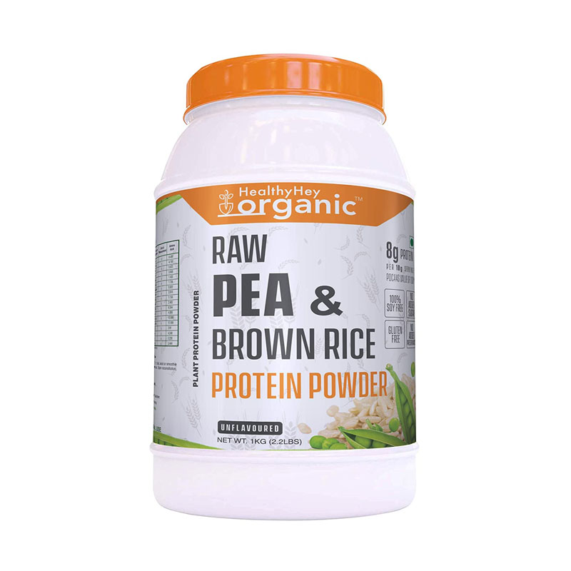 HealthyHey Organic Raw Pea & Brown Rice Protein Isolate