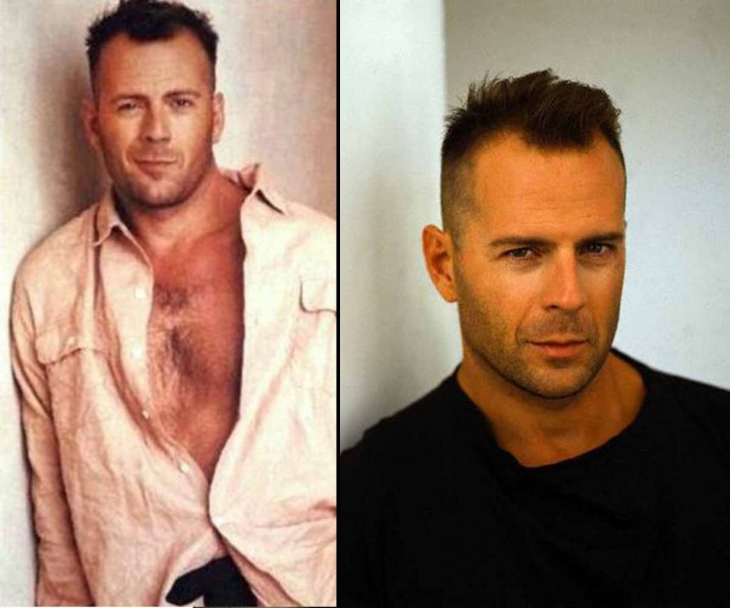 How Bruce Willis used to look with hair