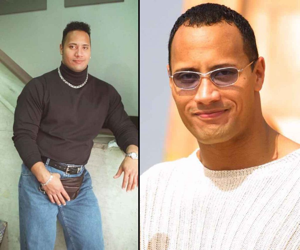 How Dwayne Johnson used to look with hair