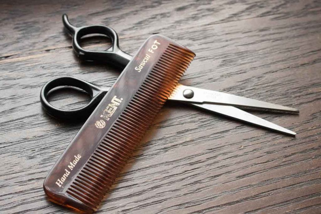 How To Groom Thick Eyebrows With Scissors And Mustache Comb