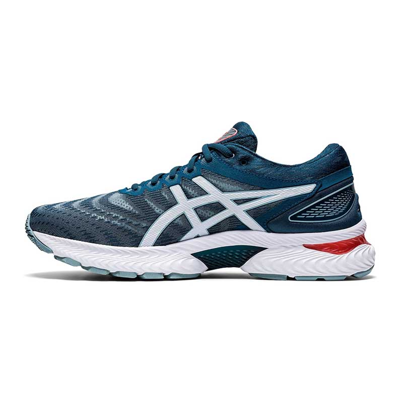 ASICS Men's Gel-Nimbus 22 Light Steel Or Magnetic Blue Running Shoes