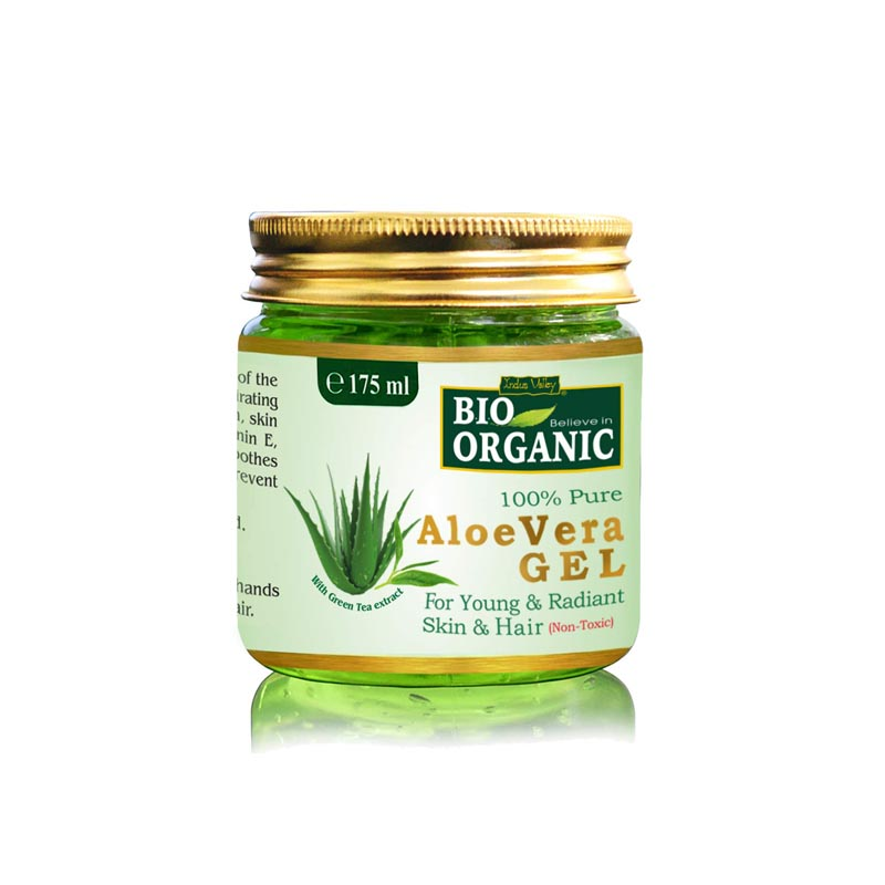 Indus Valley Bio Organic Non-Toxic Aloe Vera Gel for Acne And Acne Scars