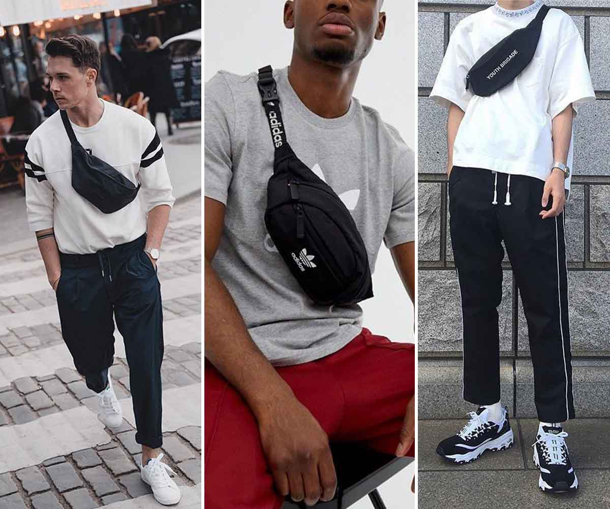 Best Athleisure Fashion For Men - Joggers, T-Shirt And Cross-Body Bag
