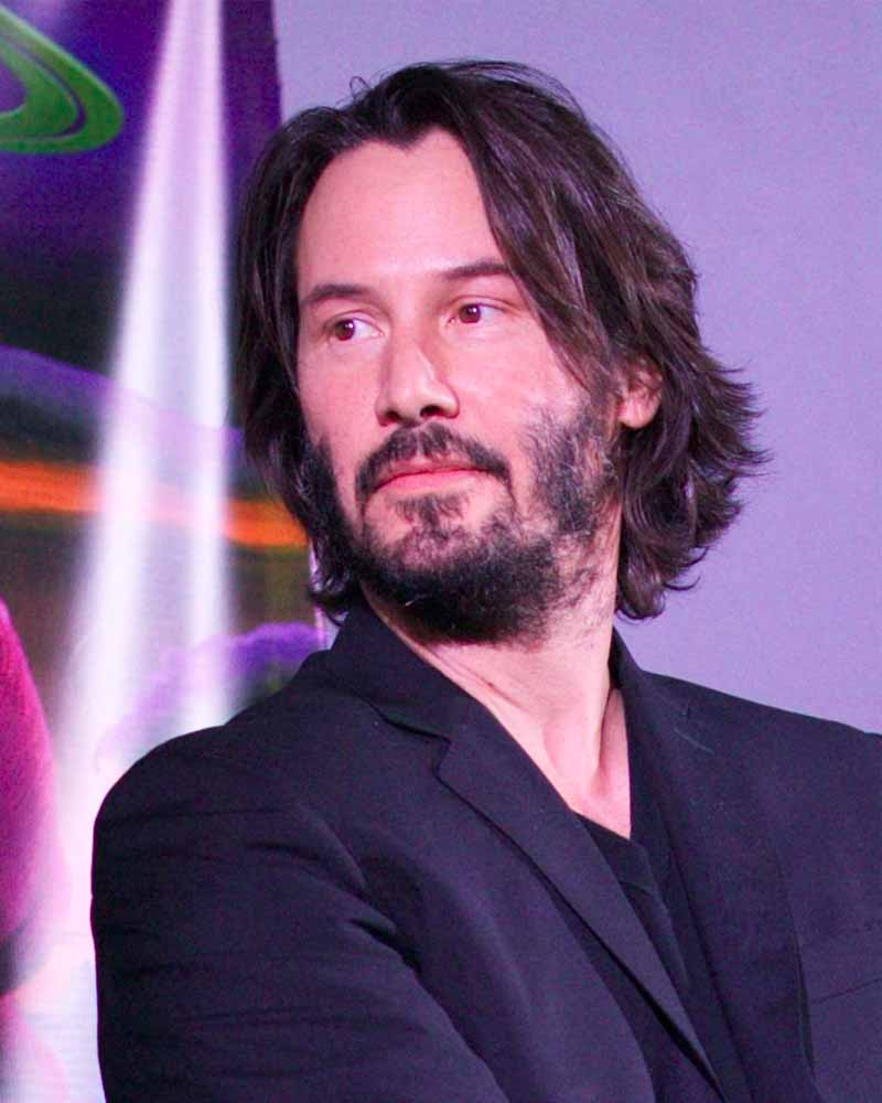 Keanu Reeves patchy beard style